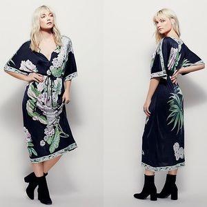 Free People NWT Hibiscus Garden Midi Dress Size XS